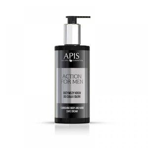 Apis Action for Men Odżywczy krem do ciała i dłoni, 300 ml